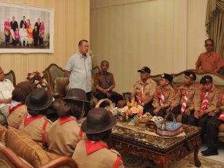 Wagub Nasrul Abit saat memberi pengarahan.