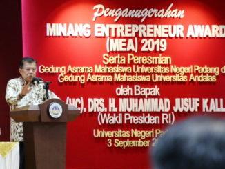 Wapres M. Jusuf Kalla saat memberi sambutan.