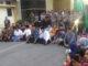 Aksi demo aliansi mahasiswa Solok Raya di DPRD Kota Solok.