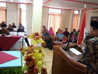 Bupati Sijunjung, Yuswir Arifin memberikan sambutan sekaligus membuka pelatihan.
