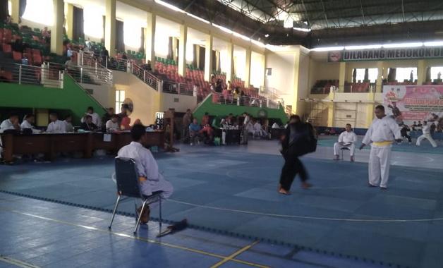 Kejuaraan Silat Pelajar tingkat Sumbar di Kota Solok.