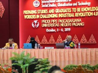 Konferensi Internasional yang digelar Program PPS Pendidikan IPS) UNP yang bekerjasama dengan STKIP PGRI Sumbar.