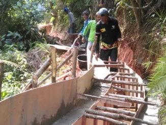 Pembangunan irigasi sungai muruah Jorong Damar Tinggi Nagari Sungai Rimbang dengan dana bantuan Kemensos RI.