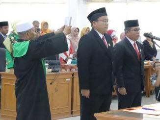 Pengambilan sumpah Ketua dan Wakil Ketua DPRD Tanah Datar.