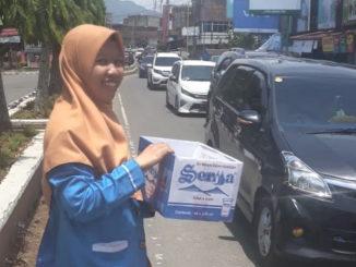 Penggalangan dana oleh PMII di Kota Sungai Penuh.