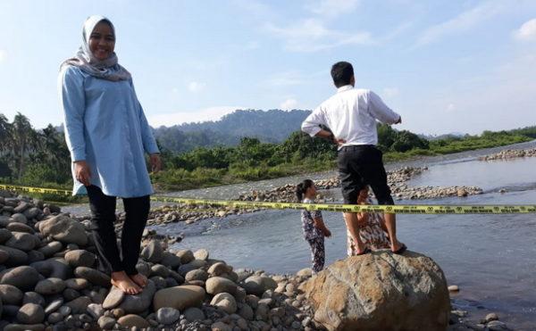 TKP meninggalnya dua orang anak di Solok Selatan.