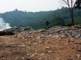 Lokasi TPA sampah Pendamping di Muaro Batuk.