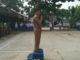 Walinagari Sumpur Kudus, Syarijal tengah menjadi pembina upacara di SMA Negeri 5.