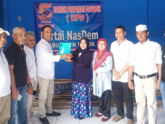 Fauzi Wirman saat mendaftar ke Partai NasDem.