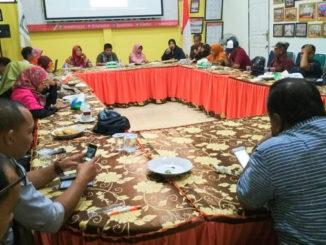 Jumpa pers KPU Kota Sawahlunto.