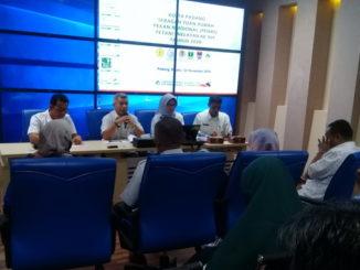 Jumpa pers di Dinas Pertanian Kota Padang.