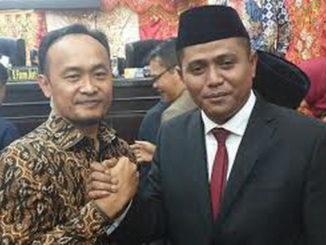 Maigus bersama Ketua DPC Partai Gerindra Kab. Solok,Jon Pandu.