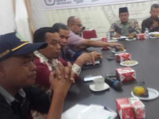 Rakor persiapan launching pilkada serenrak di gelar KPU Limapuluh Kota.