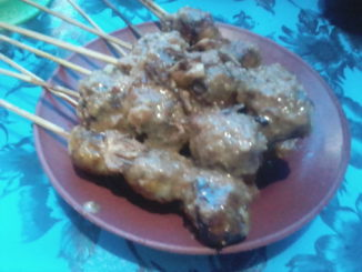 Sate Ayam Ala Warung Danau Lolang.