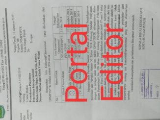Surat dari Dinas Kesehatan kepada DMSTP Sungia Penuh..