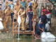 Walikota H.Asafri Jaya Bakri melepas benih ikan di Batang Sangkir dan Batang Merao