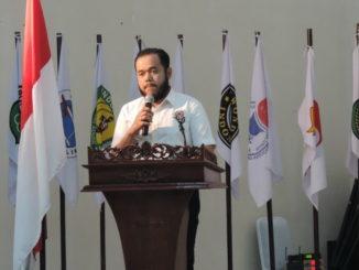 Walikota Padang Panjang saat memberikan sambutan