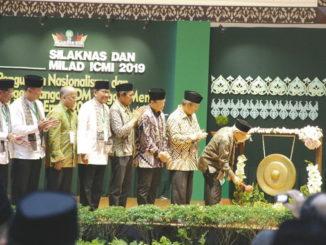 Wapres Ma'ruf Amin meresmikn Silaknas ICMI ke 29 di UNP Padang.