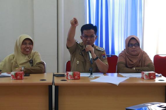 Wawako Erwin Yunaz saat memberi sambutan.