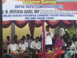 Bupati Limapuluh Kota resmikan Lumbung Pangan dan RMU kelompok tani Sawah Bakir Nagari Taram