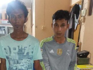 Dua pemuda Surantih yang dibekuk polisi.
