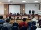 Elly Thrisyanti saat menghadiri kesepakatan pembangunan Kantor Lurah Kampung Baru Nan XX di Kecamatan Lubuk Begalung.