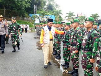 Irfendi Arbi lagi memeriksa pasukan tanggap darurat pada aprl bersama di medan nan Bapaneh Ngalau Indah Payakumbuh