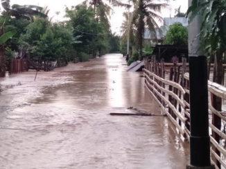 Kondisi luapan Sungai Batang Tapan, Pesisir Selatan