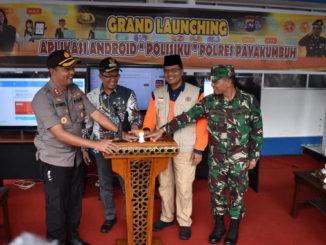 Launching aplikasi Polisiku di Payakumbuh.