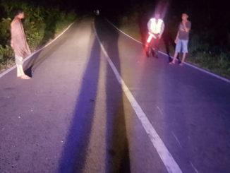 Lokasi kejadian kecelakaan di muara manggung Kecamatan Lubuk Sikaping