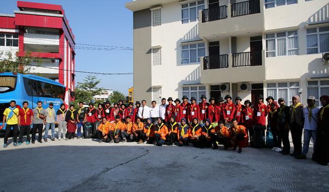 Mahasiswa UNP yang mengikuti Diklat SARCA.