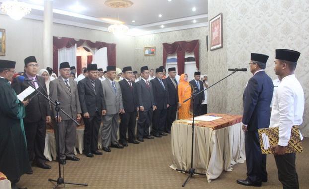 Pelantikan 10 Pejabat Tinggi Pratama di Kab. Solok.