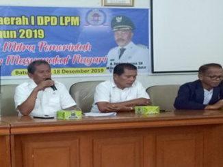 Rapat pemilihan ketua dan pengurus LPM Tanah Datar periode 2020 - 2024.