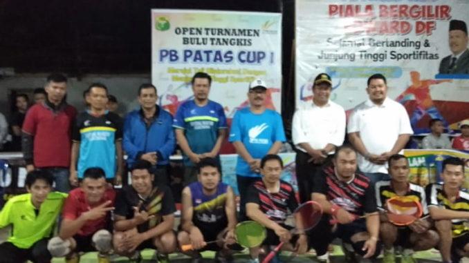 Sebagian peserta Turnamen Bulutangkis PB Patas Cup I.
