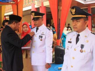 Serahterima camat Lembang Jaya.