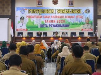 Sosialisasi Pendaftaran Tanah Sistematis Lengkap (PTSL) tahun 2020 di Aula Ngalau Indah.