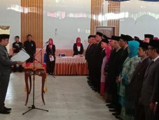 Walikota Sawahlunto melantik pejabat baru