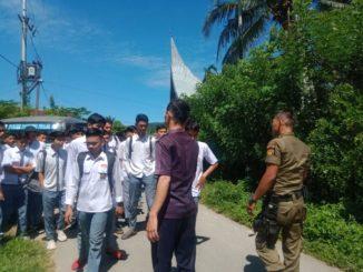 8 pelajar bolos sekolah, yang ditertibkan Pol PP dan Damkar Pessel.