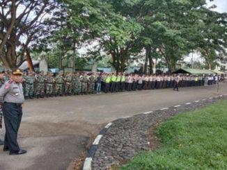 Apel Gabungan persiapan pengamanan Minangkabau Gowes 2020.