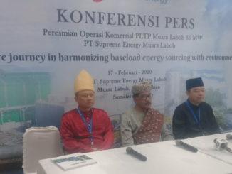 Konferensi pers peresmian PLTP Muaro Labuh