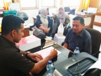 Pemeriksaan tersangka kasus korupsi Lapangan Merdeka Kota Solok.