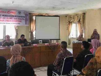 Rapat Penguatan Intervensi Suplementasi Gizi Ibu Hamil Dan Balita pada Daerah Lokus Stunting DLS di Aula Dinas Kesehatan.