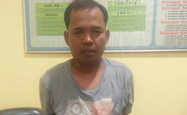 Salah seorang pemakai narkoba yang diciduk Satres Narkoba Polres Pessel.