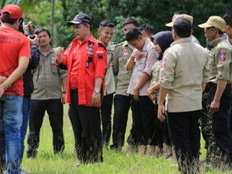 Wakil Wali Kota Solok Reinier, saat membuka kegiatan pendidikan dasar (diksar) Taruna Siaga Bencana (Tagana) Muda Kota Solok