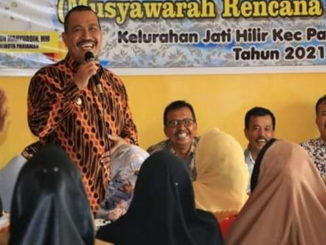 Wakil Walikota Pariaman Mardison Mahyuddin saat sampaikan sambutan