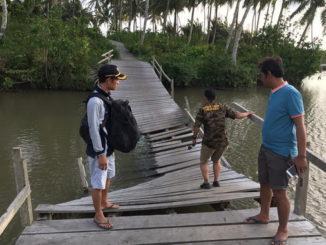 Kondisi jembatan di Dusun Bojo yang sudah sangat memprihatinkan.