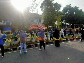 Senam massal di Lubuk Sikaping.