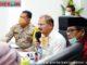 Bupati Ali Mukhni saat Video Telconference dengan Guburnur Sumbar.