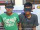 Dua pelaku perampokan BI dan FT yang diamankan di Mapolres Tanah Datar.