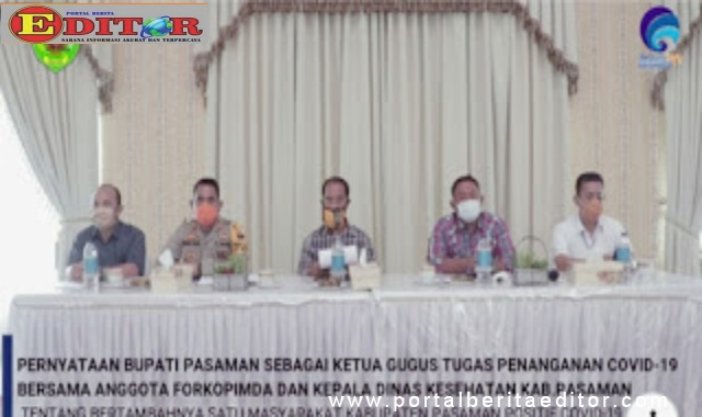 Pimpinan Gugus tugas percepatan penanggulangan Covid-19 Kabupaten Pasaman.